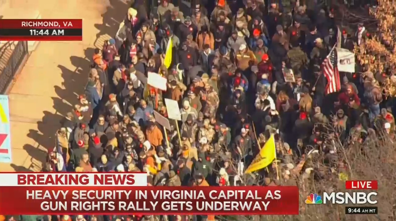 MSNBC Falsely Claims Gun Rights Rally Filled With 'White Nationalists'