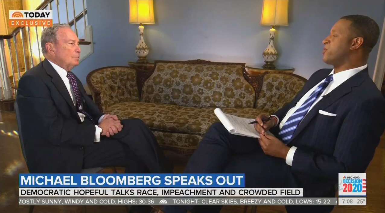 NBC's Melvin Asks Bloomberg: 'What Makes Donald Trump So Dangerous?'