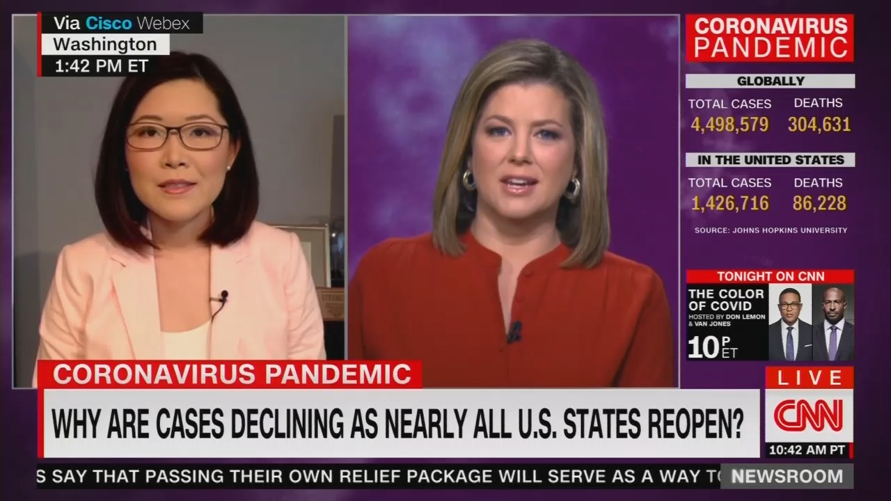 Bewildered CNN Wonders: 'Why Are Cases Declining as Nearly All U.S. States Reopen?'