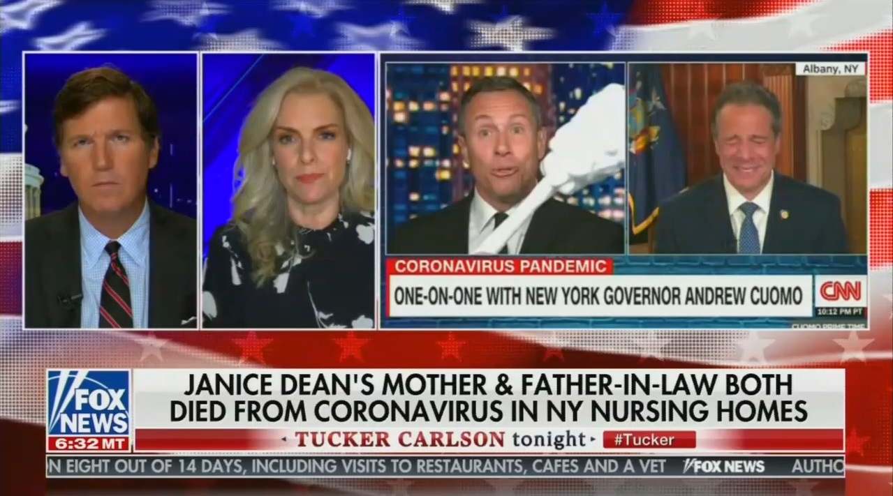 After Being Mocked by CNNer, Janice Dean Talks to Tucker About Losing In-Laws to Virus