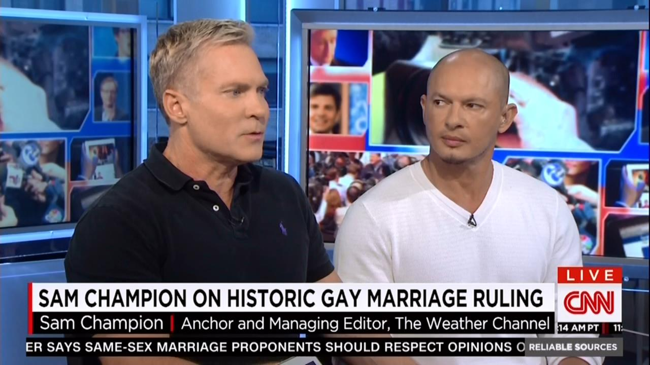Gay marriage liberal host markus comes to us from los angeles he - 1 9