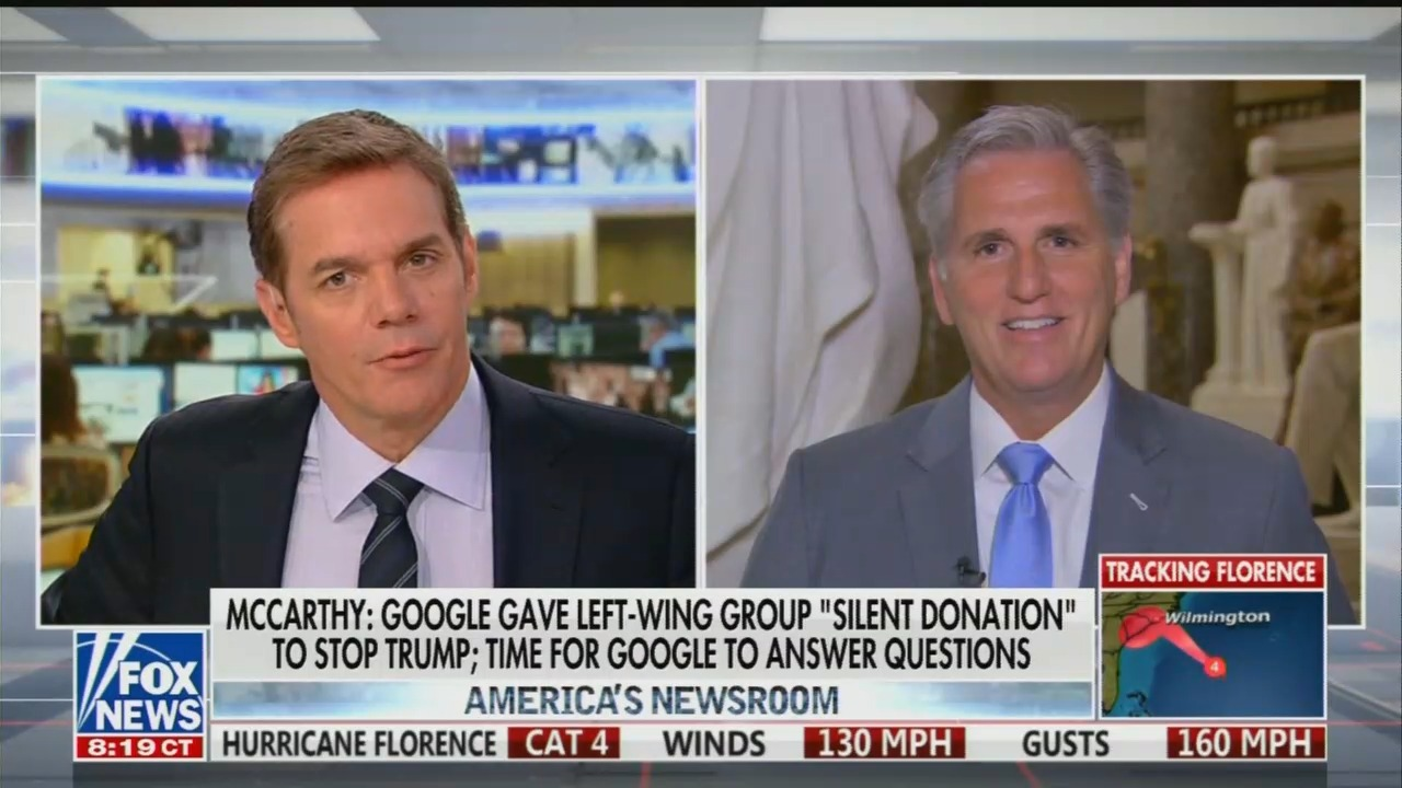 Rep. Kevin McCarthy: Its Time for Google to Answer Some Questions