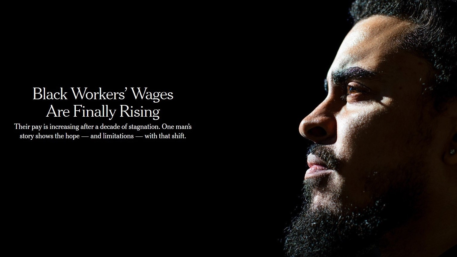 New York Times Reports 'Black Workers' Wages Are Finally Rising' -- Headline Altered for Paper