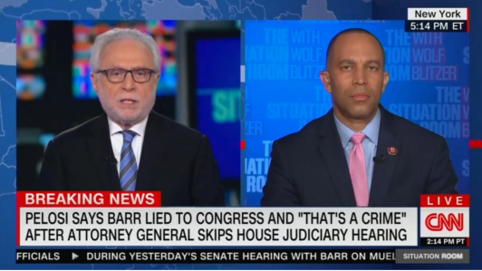 CNN's Wolf Blitzer: Will Democrats Send the Attorney General to Jail?