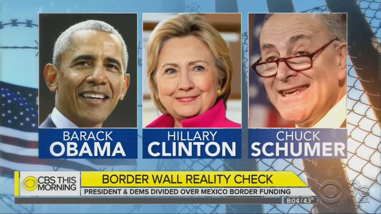 CBS: Hey, Remember When Obama and Hillary Supported Border Barriers?