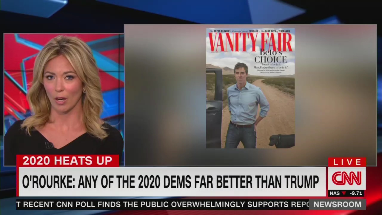 CNN Hammers Beto's 'White Maleness' 52 Times In One Day