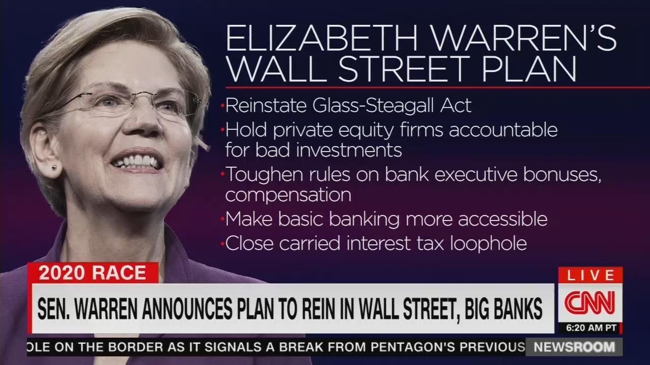 CNN Hypes Warren's Wall Street Plan, Claims It's 'Not Wackadoodle'