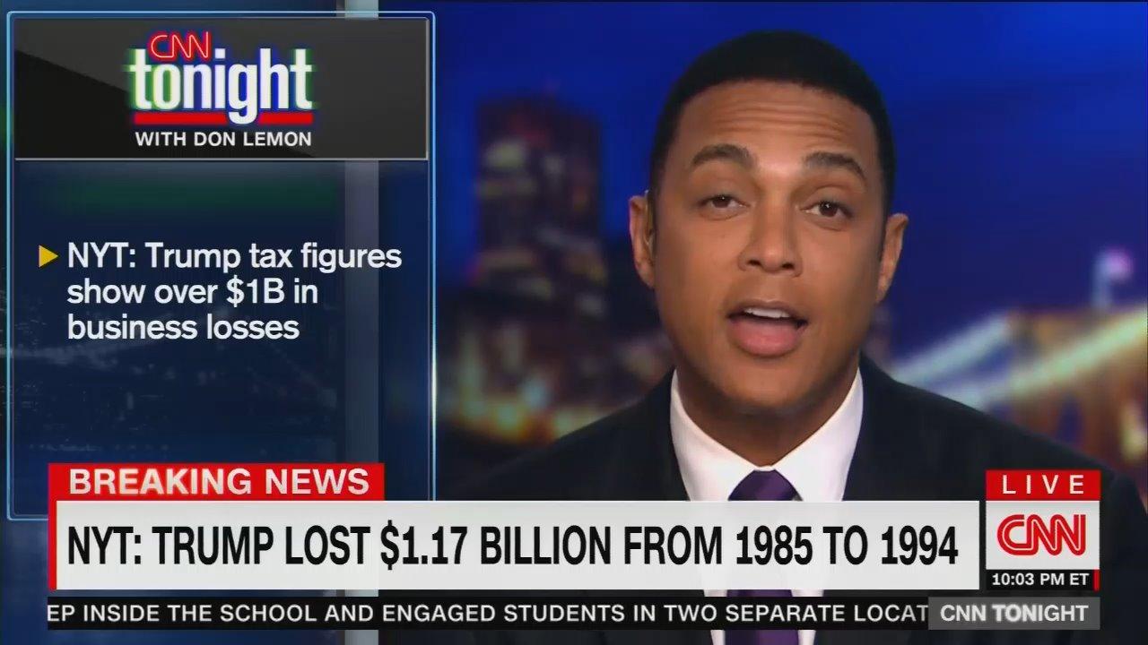 CNN Trashes Trump as 'Con Man in Chief,' 'Sociopath' Over Tax Returns