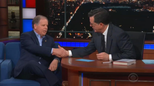 Colbert Quips to Jones: Did You Need 'Exorcist' to Clean Out Sessions's Office?