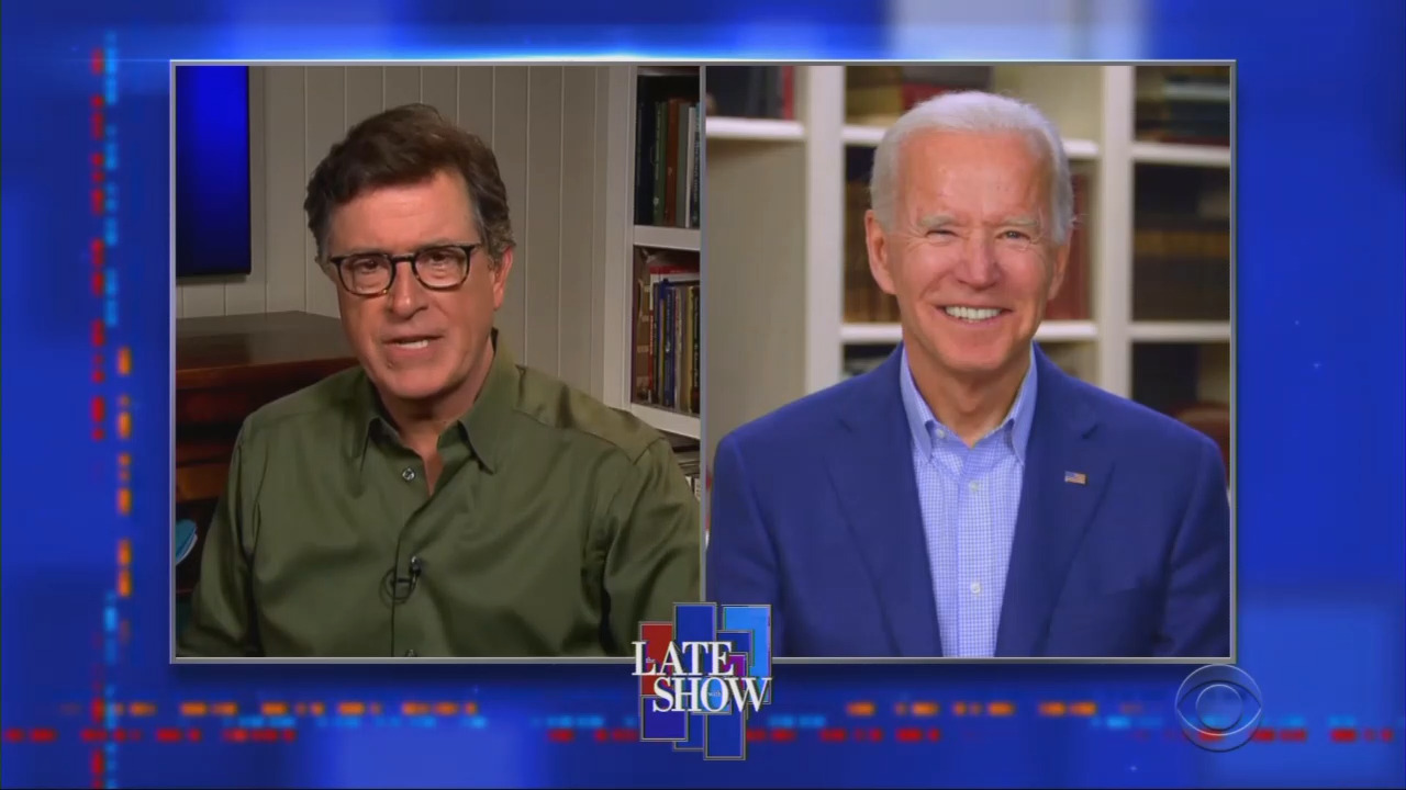 Colbert Blasts Trump 'Disaster,' Asks Biden: 'Are You Gonna Beat This Guy?'