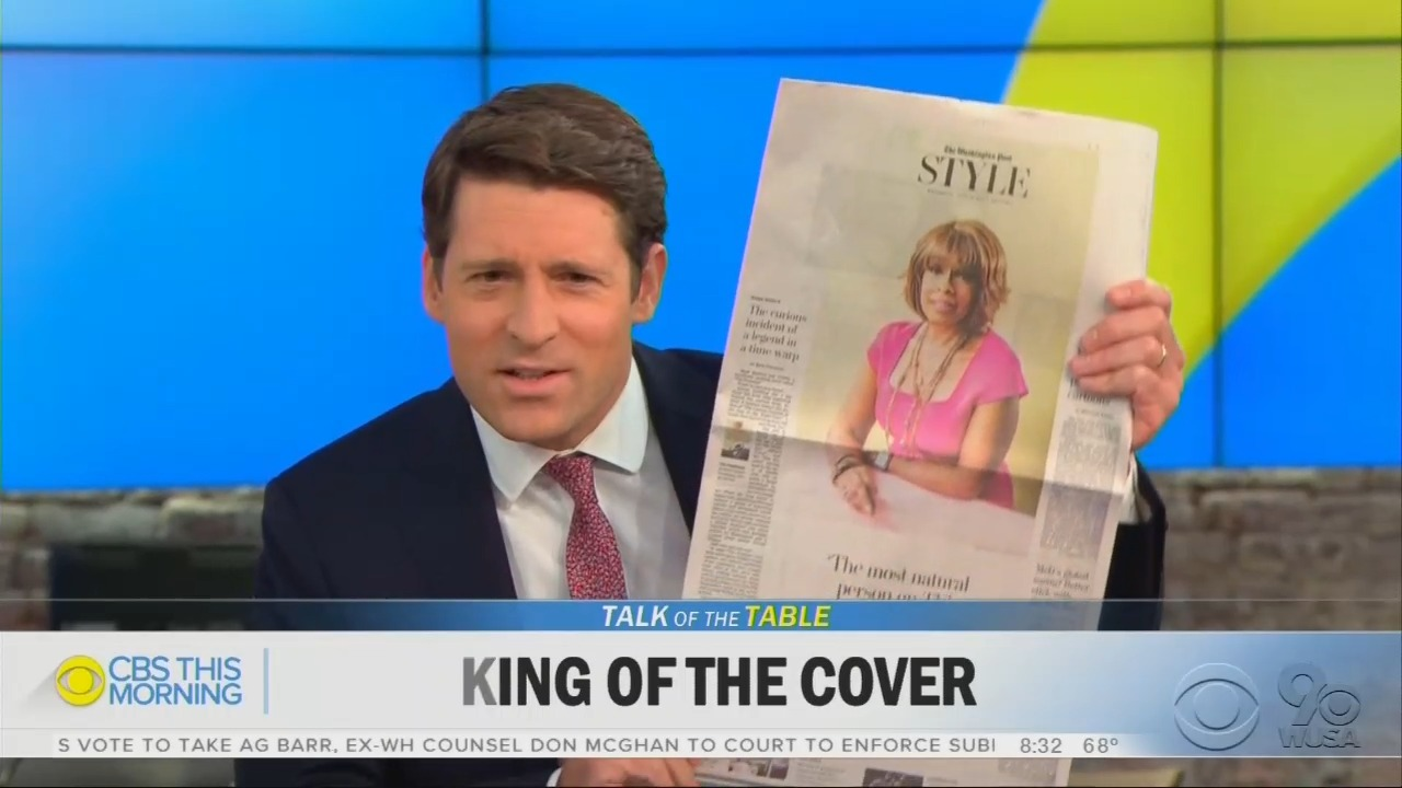 CBS Crew Reads Gayle King an Article About How Great Gayle King Is