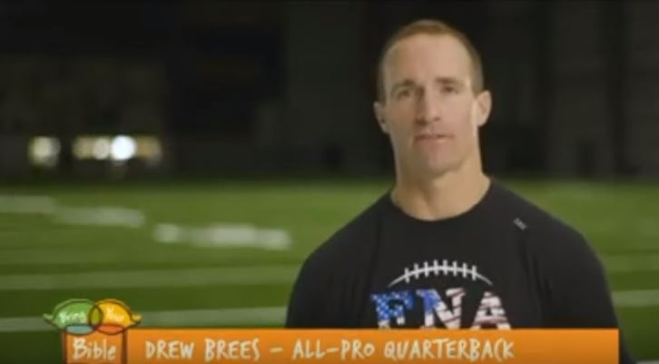 Anti-Christian Media Trash Brees for Appearance in Christian Video