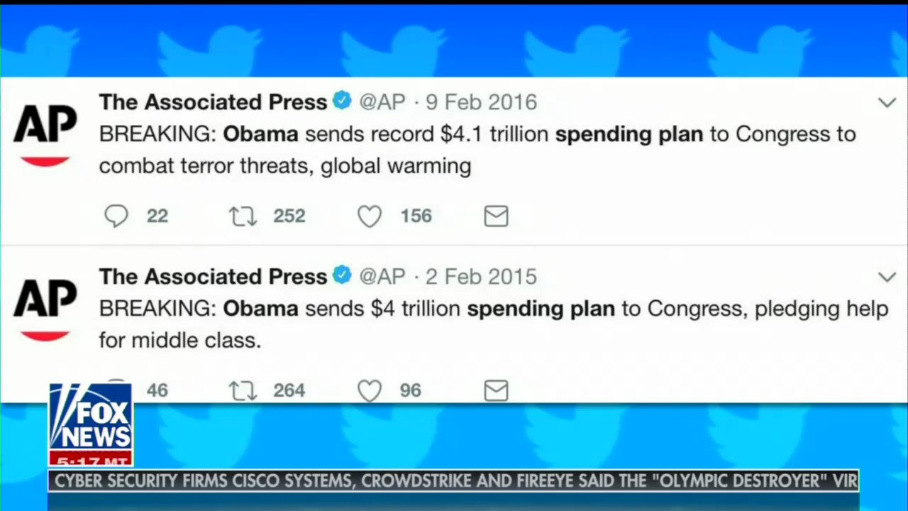 Fox & Friends Exposes AP's Two-Faced Tweets on Trump vs. Obama Budgets