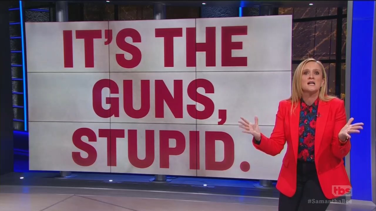No Comedy on Sam Bee's Comedy Show: 'Let's Get Rid of the Guns'