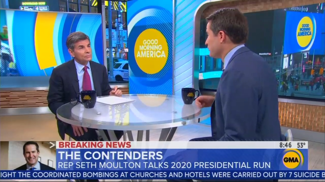 ABC's Stephanopoulos to Moulton: What 'Sets You Apart' From Other 2020 'Patriots'