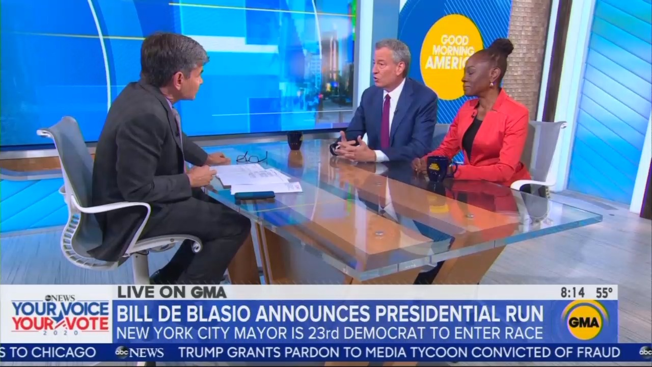 As De Blasio Announces, Stephanopoulos Skips the Democrat's RADICAL, Far-Left Views