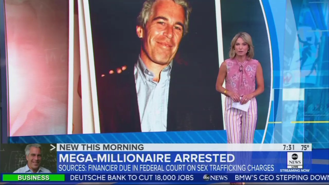 ABC Omits Clinton Connection to Sex Offender Jeffrey Epstein