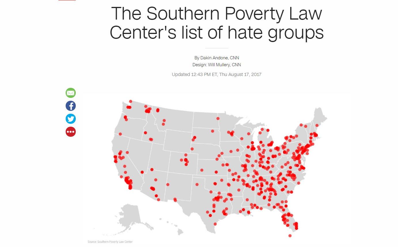 southern poverty law center There are dangerous hate groups in america so a group called the southern poverty law center promises to warn us about them they release an annual list of hate groups in america the media.