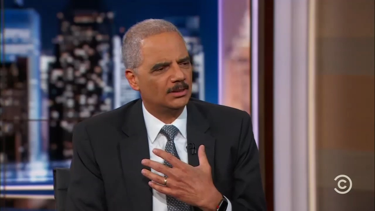 Eric Holder Howler: 'You Don't Talk About Partisan Things' at the Justice Department