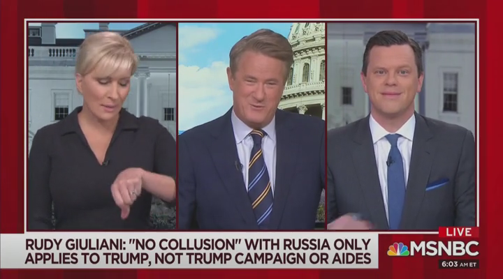Once Again, Morning Joe Unsubtly Suggests Giuliani Has a Drinking Problem
