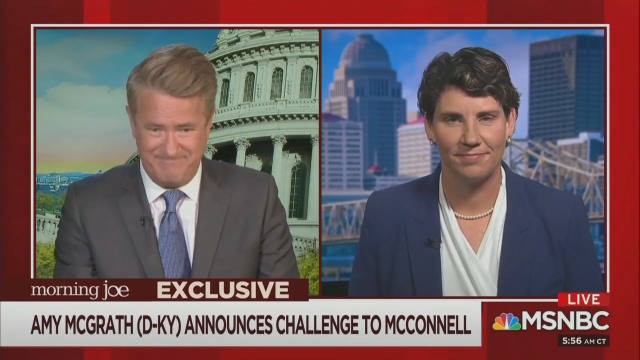 Morning Joe Awards 11 Minutes to Dem Running Against Mitch McConnell