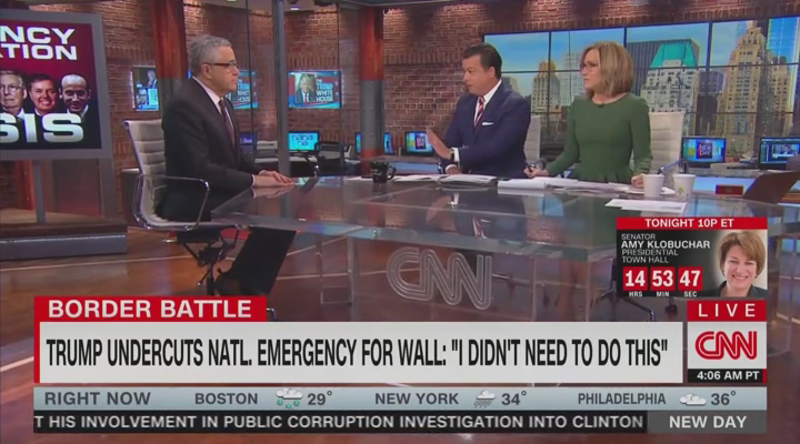 CNN Mocks Trump for Eating Omelet During Border Emergency