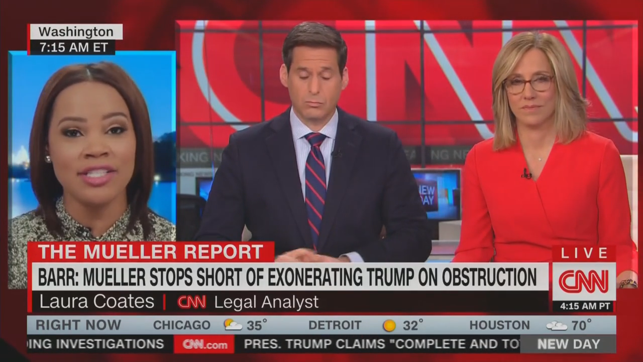 Cnns Attack On Mueller Begins No Ruling On Obstruction Atrocious