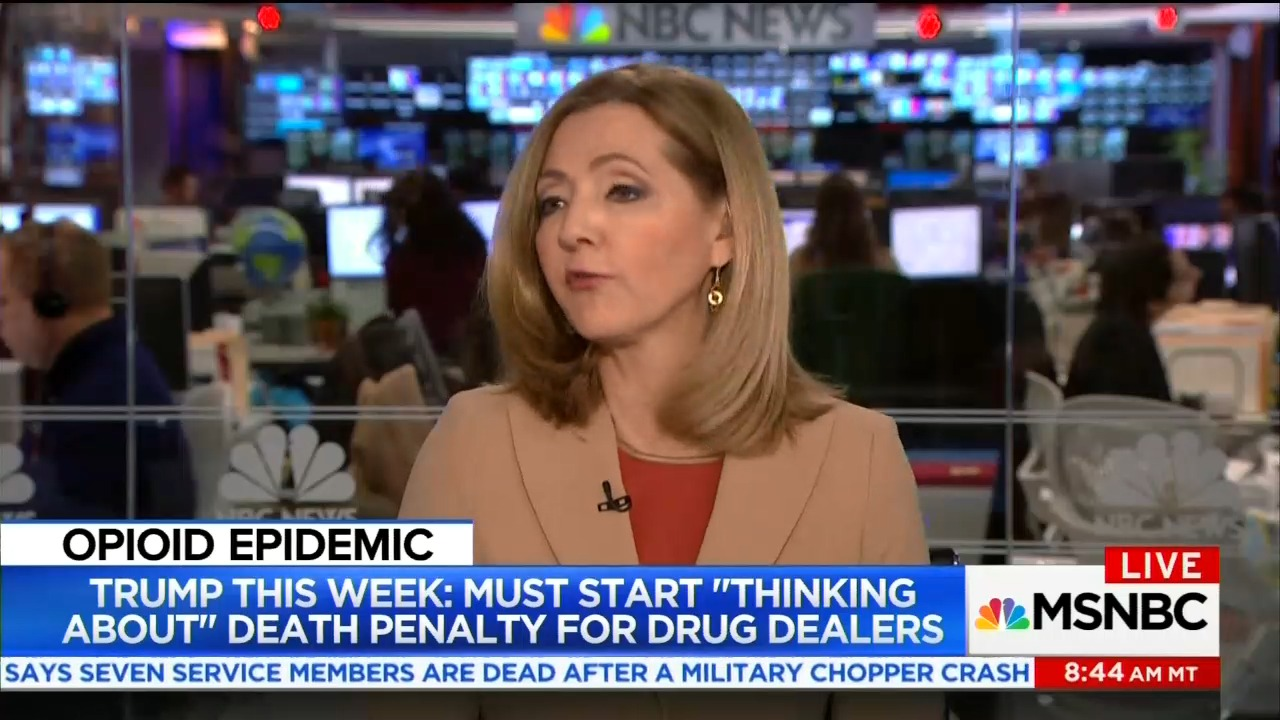 MSNBC Frets Over Trump Calling for More Death Penalty Tougher Sentencing