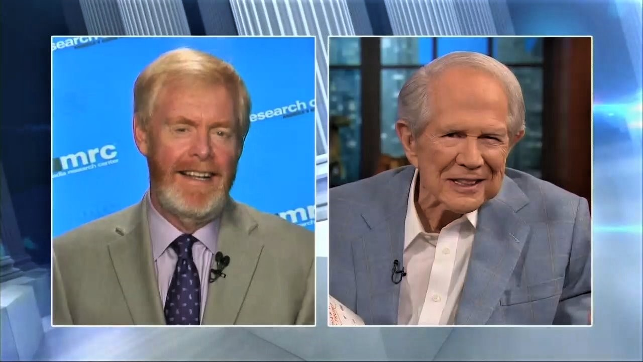 MRC's Brent Bozell Discusses New Book with Pat Robertson on '700 Club'