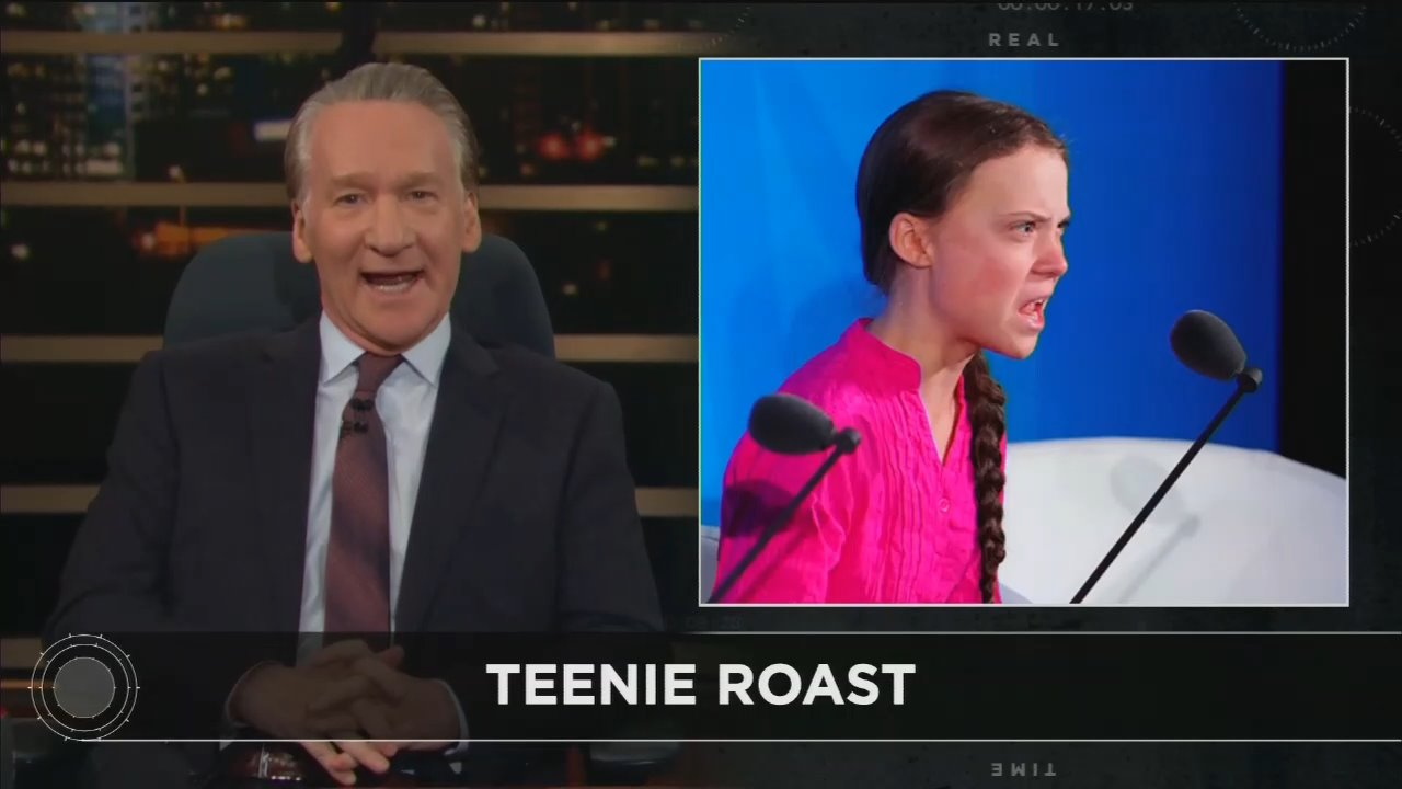 Bill Maher Slams Climate 'Deniers' as 'Lousy Parents,' Lauds Thunberg