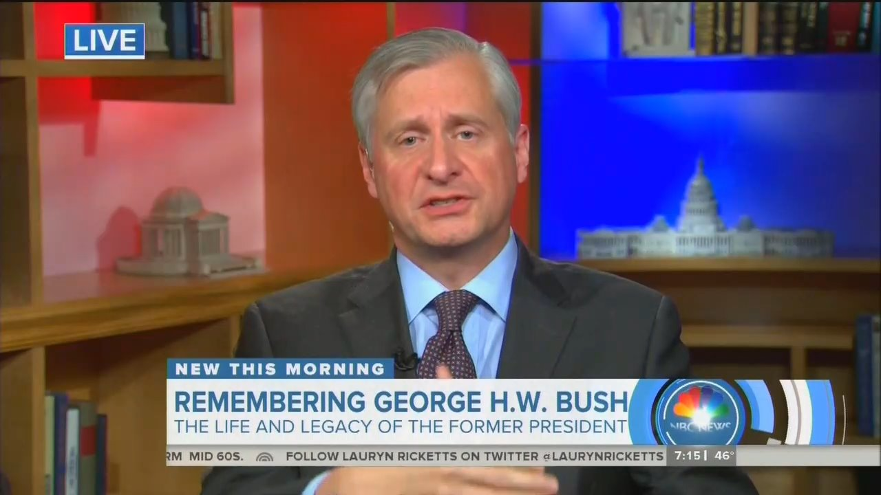 Meacham Lauds Bush Defying Conservatives to 'Put Country First'