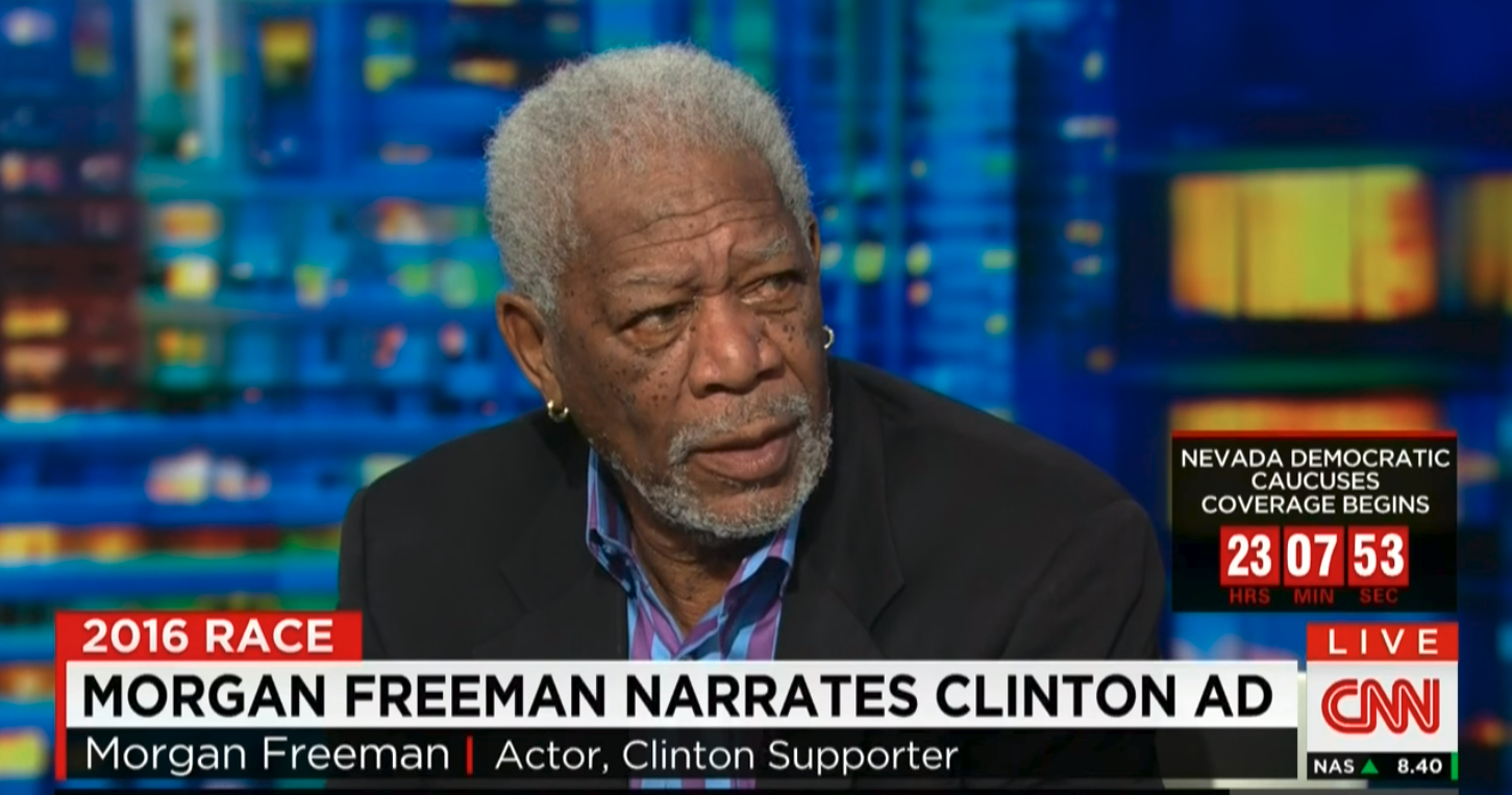 Oops: Alleged Sex Harasser Morgan Freeman Narrated Four Clinton Campaign Ads