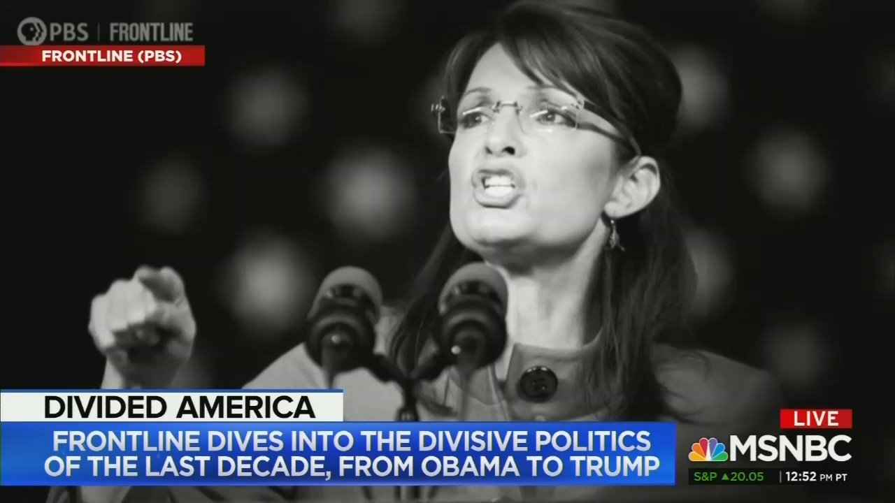 MSNBC Plugs Palin-Pounding PBS Film on the Rise of Racism Under Trump