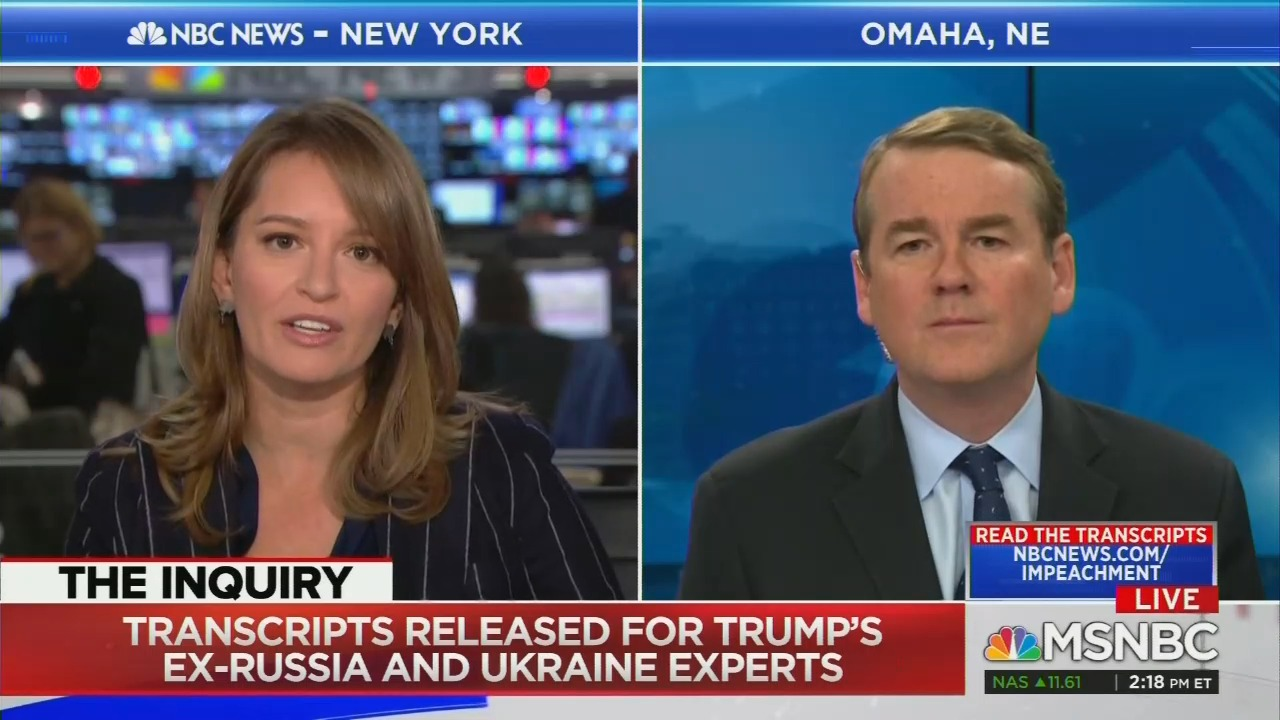 Katy Tur Interviews Michael Bennet, Attacks Him From the Left