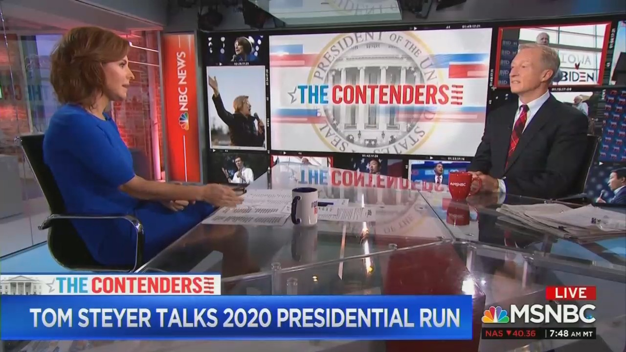 Ruhle to Steyer: 'You and I Both Know' Republicans Are Obstructionists