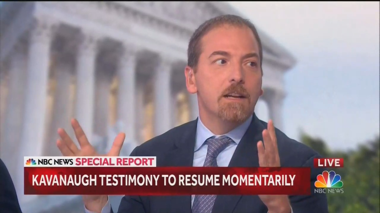 Oh, Now Chuck Todd Is Outraged? Hearings 'as Bad as I feared,' 'a Divorce'