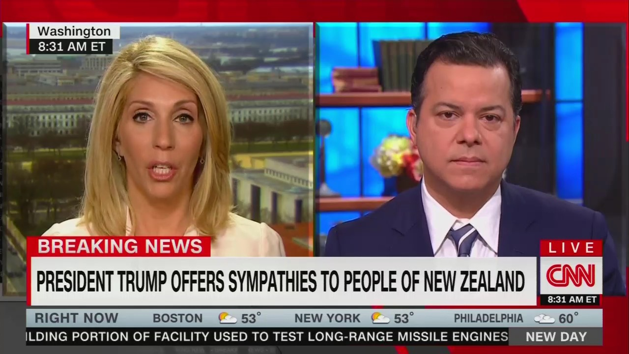 CNN's Bash Blames Trump for NZ Massacre: Trump's Rhetoric Riles Up 'Nut Jobs'