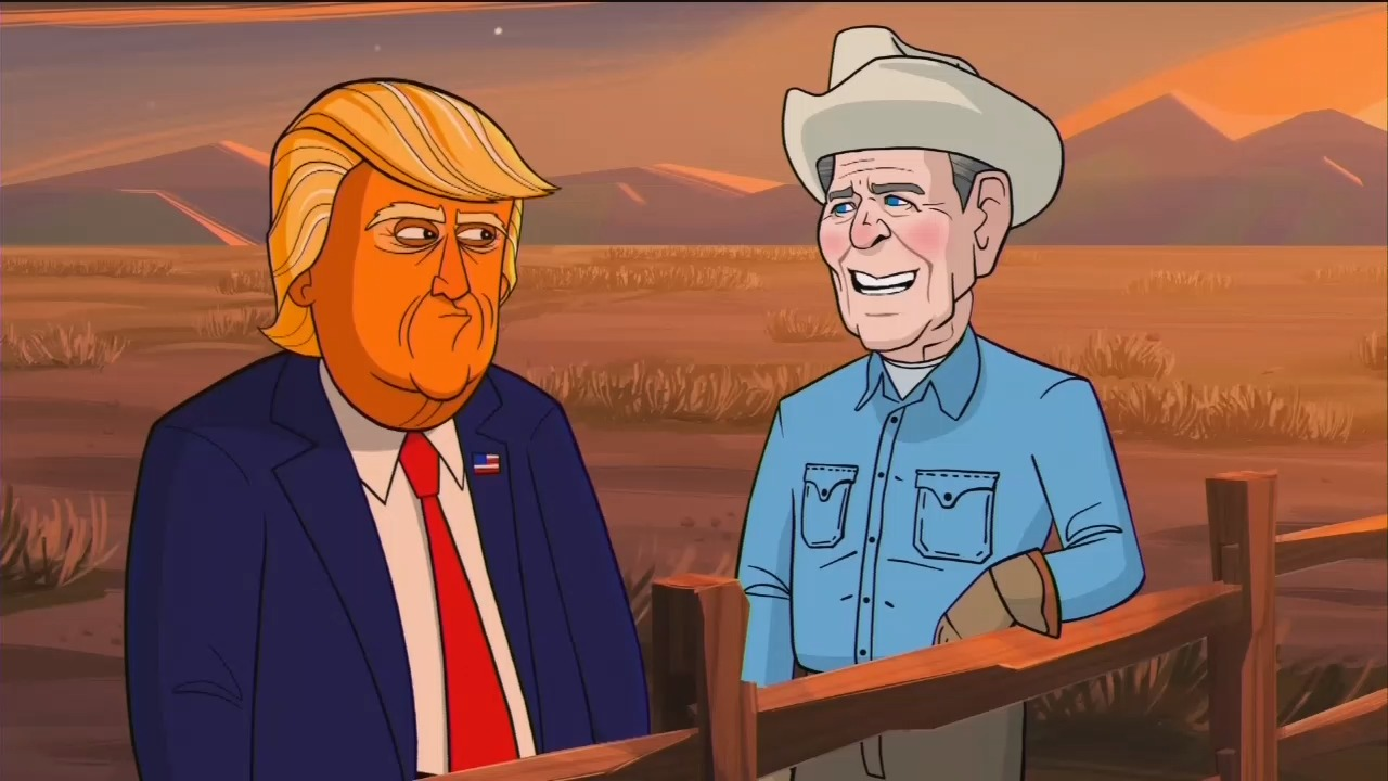 Stephen Colbert's Showtime Cartoon Shows Reagan in Hell, Adelson as Jabba the Hut