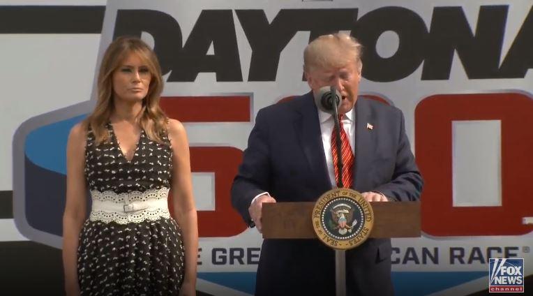 Media Accuse Trump of Politicizing Daytona 500 NASCAR Race