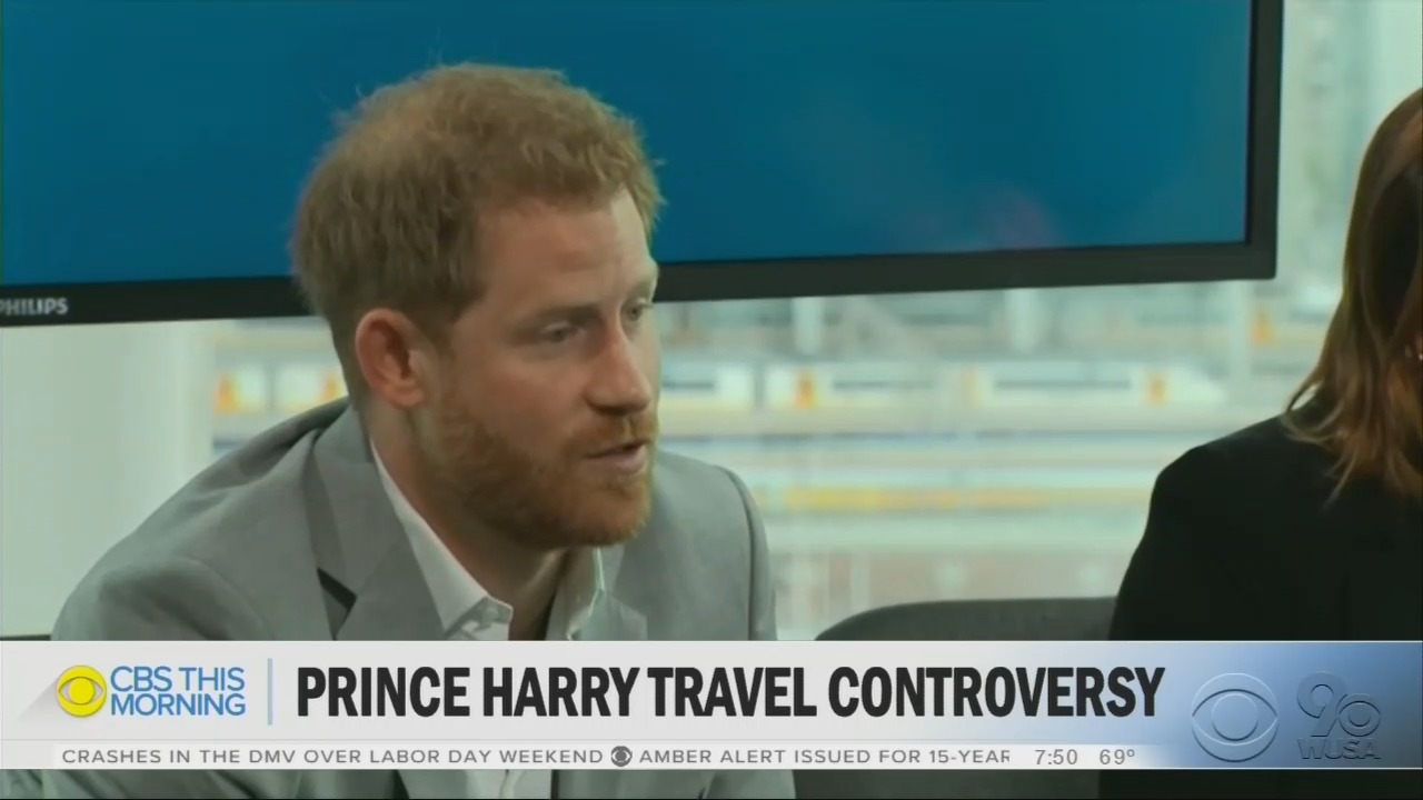 CBS Sympathizes With Prince Harry After Climate Hypocrisy Is Exposed