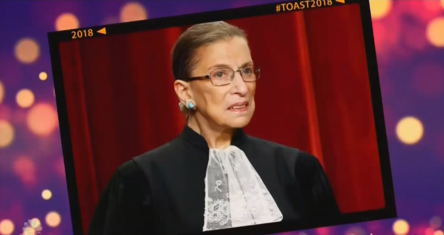 How NBC Celebrates New Years: 'Woman of the Year' Ginsburg Is 'the Bomb'