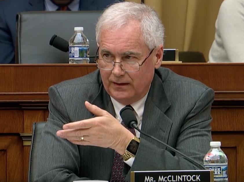 Congressman Tom McClintock Schools Liberals On Free Speech