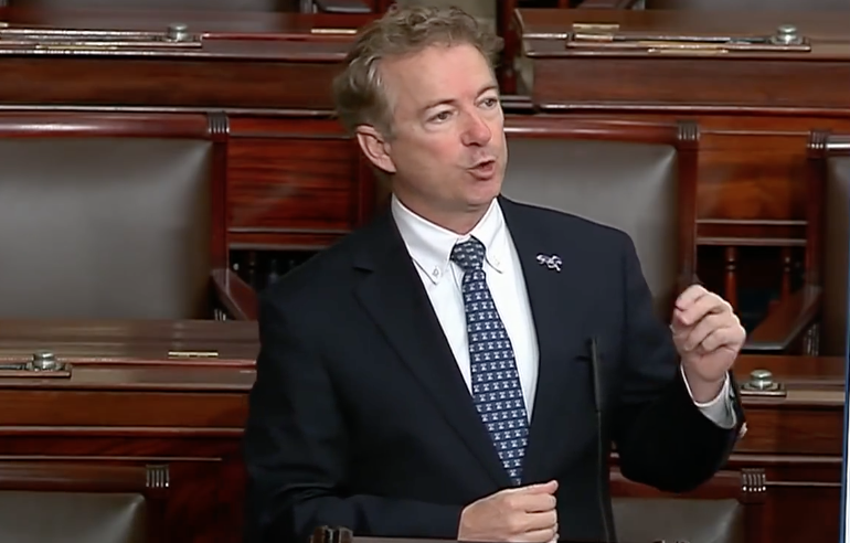 Rand Paul Clip Mentioning Alleged 'Whistleblower' Censored by YouTube