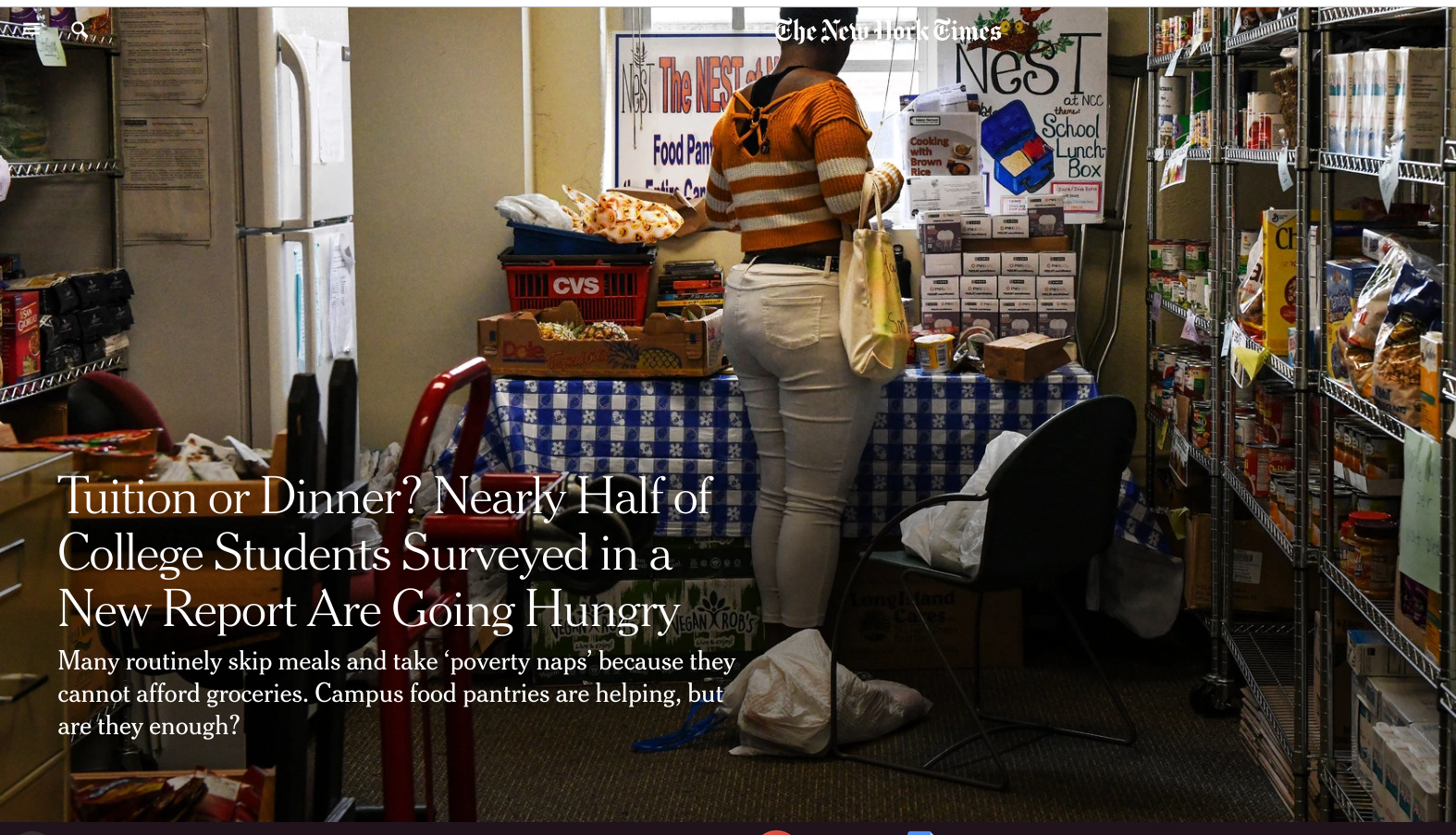 National Review Shreds New York Times on Alleged Hunger of College Students
