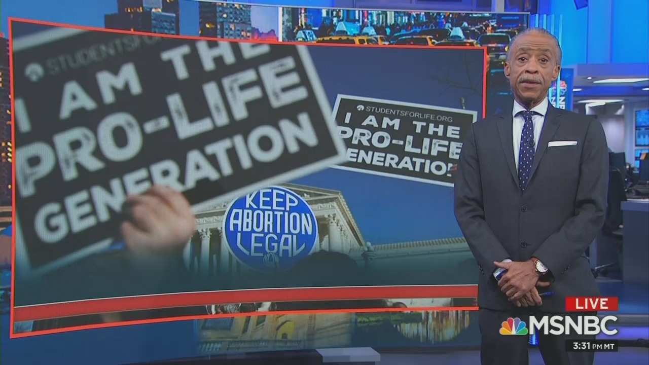 Sharpton Praises Pro-Abortion Women For Doing 'the Actual Creating in Art and in Life'