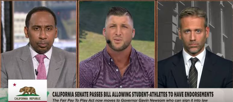 Tebow Takes Hits From Sports Media For Opposing College Payola