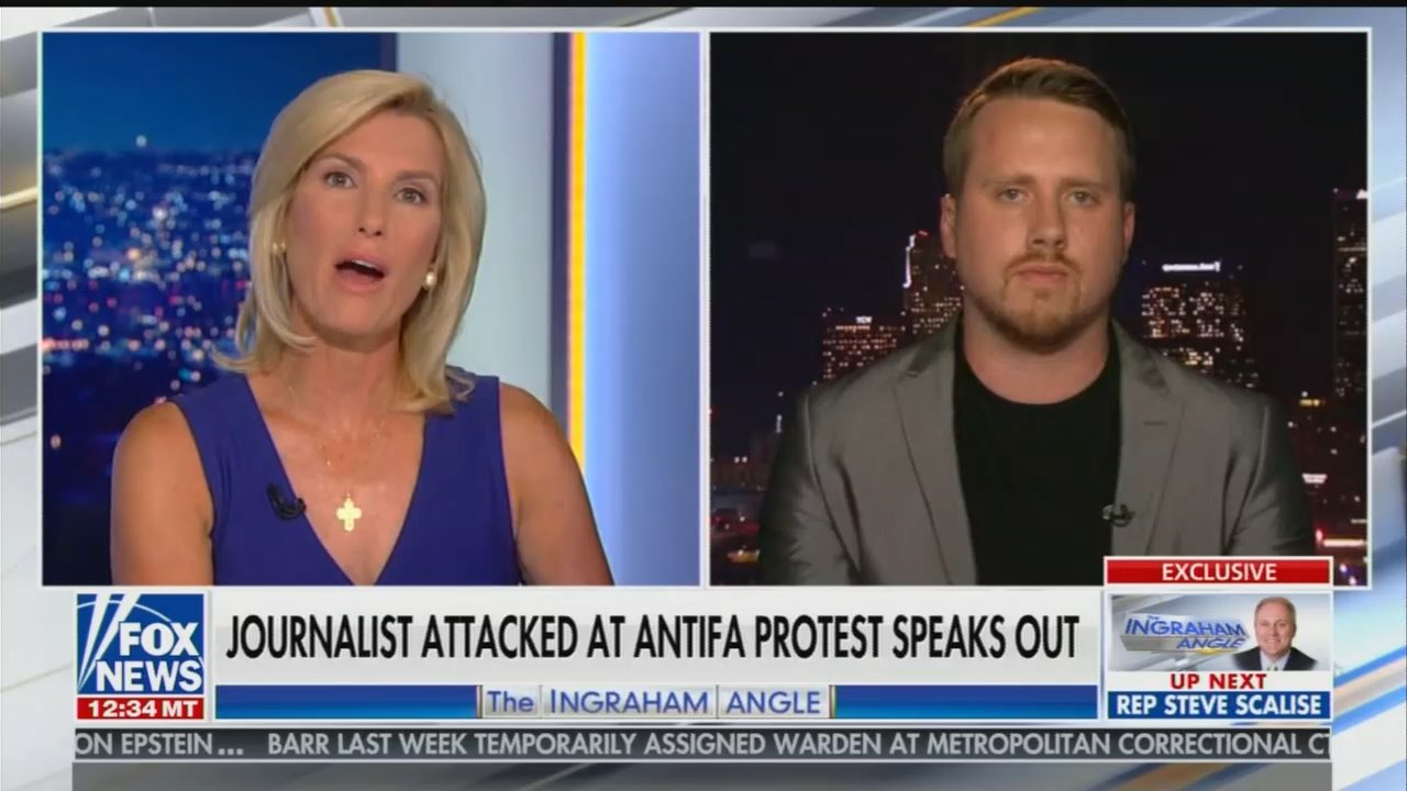 Watch Laura Ingraham, Guest Debunk Myth of Antifa as 'Peaceful'
