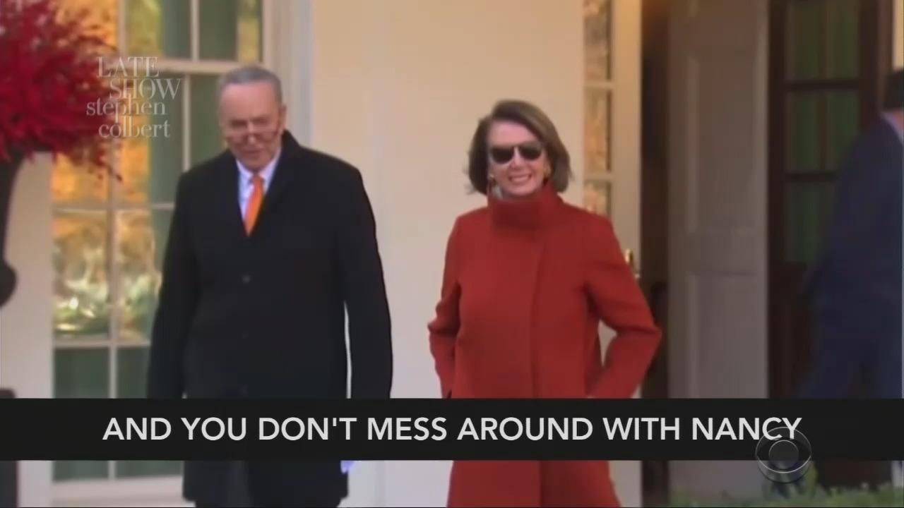 Colbert PRAISES Nancy Pelosi in Bizarre Video