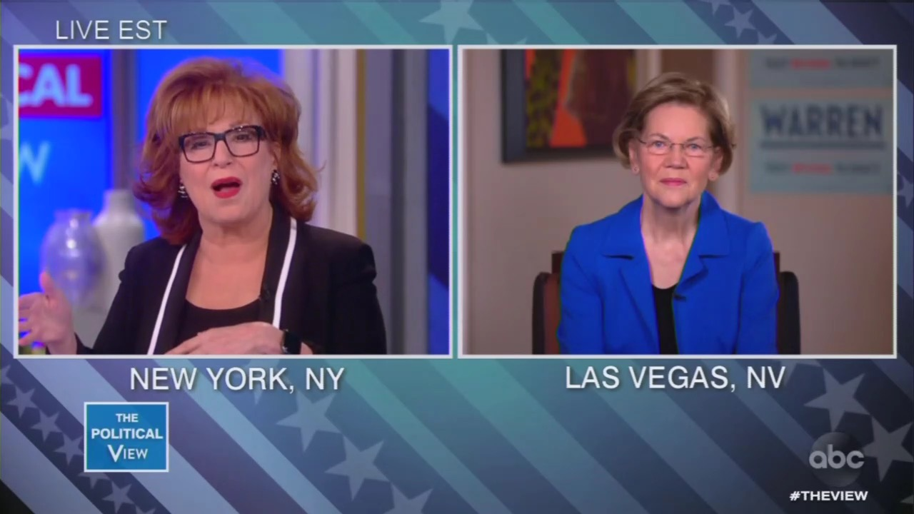 Warren Wows 'View' Except for Joy Behar: Why Didn't You Go After Trump 'More'?
