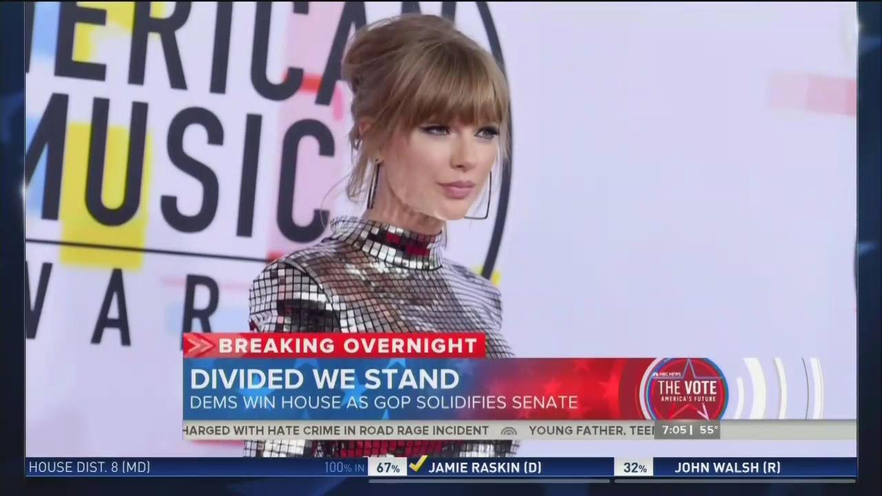 ABC Ignores, CBS, NBC Downplay Blackburn Win Over Taylor Swift Endorsed Democrat